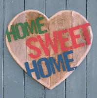 Servietten 33x33 cm - Zuhause Süßes Zuhause