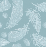 Lunch Servietten Graphic Feathers