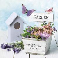 Servietten 33x33 cm - Garten & Blumen