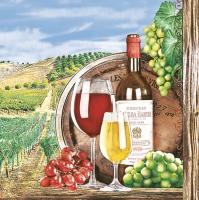 Servietten 33x33 cm - Tuscany Wineyard