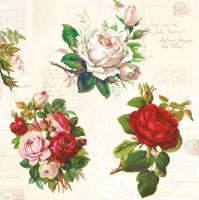 Servietten 33x33 cm - English Roses