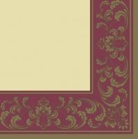 Servietten 33x33 cm - Rococo Frame Red