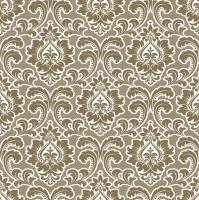 Servietten 33x33 cm - Wallpaper Pattern Gold