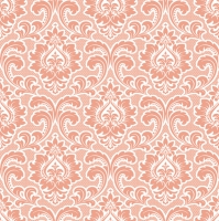Servietten 33x33 cm - Wallpaper Pattern Salmon