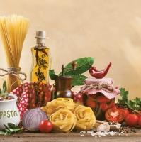 Servietten 33x33 cm - Italian Food