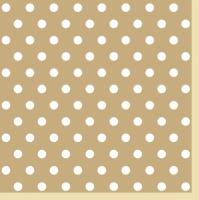 Servietten 33x33 cm - Beige Dots II