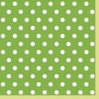 Servietten 33x33 cm - Green Dots II