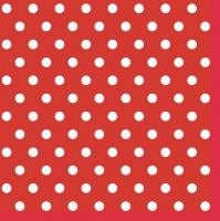 Servietten 33x33 cm - Red Dots II