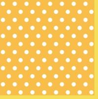 Servietten 33x33 cm - Yellow Dots II