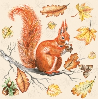 Lunch Servietten Squirrel on Branch