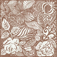 Servietten 33x33 cm - Monochrome Garden Brown