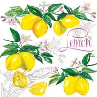 Servietten 33x33 cm - Saftige Zitronen