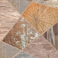 Servietten 33x33 cm - Holz-Collage