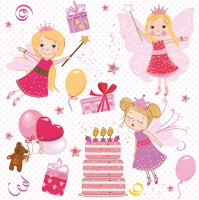 Servietten 33x33 cm - Birthday Fairies