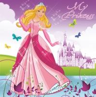 Servietten 33x33 cm - Wunderschöne Prinzessin