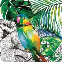 Servietten 33x33 cm - Jungle Parrot