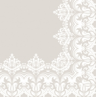 Servietten 33x33 cm - Ornament Rand Beige