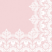Servietten 33x33 cm - Ornament Border Pink