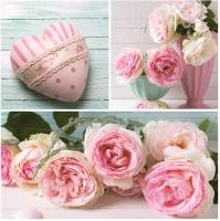 Servietten 33x33 cm - Pashmina Rose Collage