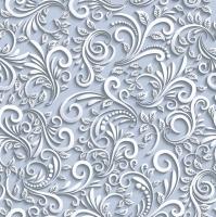 Servietten 33x33 cm - Classic 3D Dove Grey