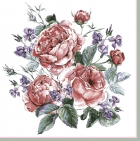 Servietten 33x33 cm - English Painted Roses
