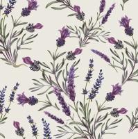 Servietten 33x33 cm - Lavendel Zweige
