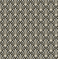 Servietten 33x33 cm - Art Deco Pattern Black and Gold