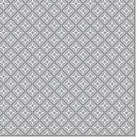 Servietten 33x33 cm - Geometric Tiles Silver