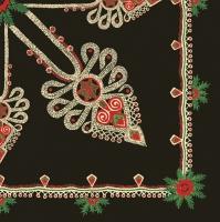Servietten 33x33 cm - Parzenica Pattern Black