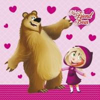 Servietten 33x33 cm - My Friend Bear