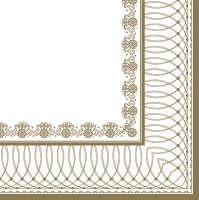 Servietten 33x33 cm - Gold Graphic Frame