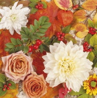 Servietten 33x33 cm - Herbstblumen