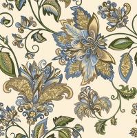 Servietten 33x33 cm - Golden Blue Hindi Pattern