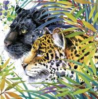 Servietten 33x33 cm - Wild Cats Fantasy