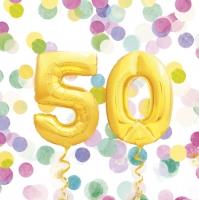Servietten 33x33 cm - 50th Birthday