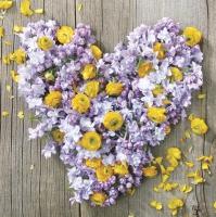 Servietten 33x33 cm - Blumen und Liebeskraft