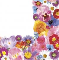 Servietten 33x33 cm - Frühlingsblumen Komposition