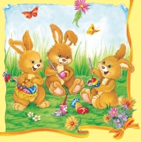 Lunch Servietten Three Funny Bunnys