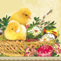 Lunch Servietten Easter Baskets+Chicken