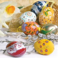 Servietten 33x33 cm - Easter Eggs Composition