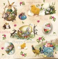 Servietten 33x33 cm - Happy Easter Animals