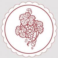Untersetzer - Weinglasuntersetzer WEINREBE (bordeaux)