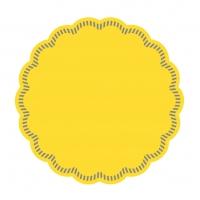 Untersetzer - DECKCHEN UNI gelb