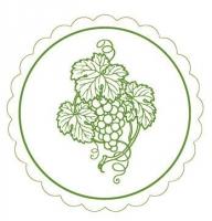 Untersetzer - Weinglasuntersetzer WEINREBE (grün)