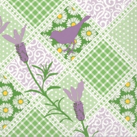Tissue Servietten 33x33 cm - GARTEN grün/lila