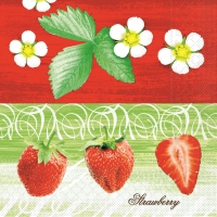 100 Tissue Dinner Servietten STRAWBERRY