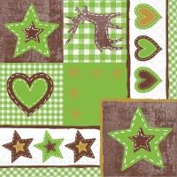 Tissue Servietten 33x33 cm - Lotta  (grün/braun)