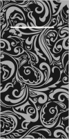100 Besteckservietten - LIAS schwarz-silber