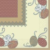 Tissue Servietten 33x33 cm - ANDY - hellbraun