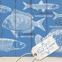 200 Tissue Dinner Servietten - FISCH-ESSEN